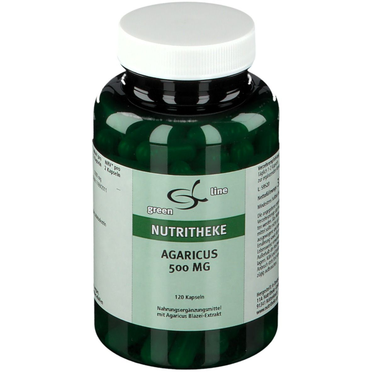 Image of green line AGARICUS 500 mg