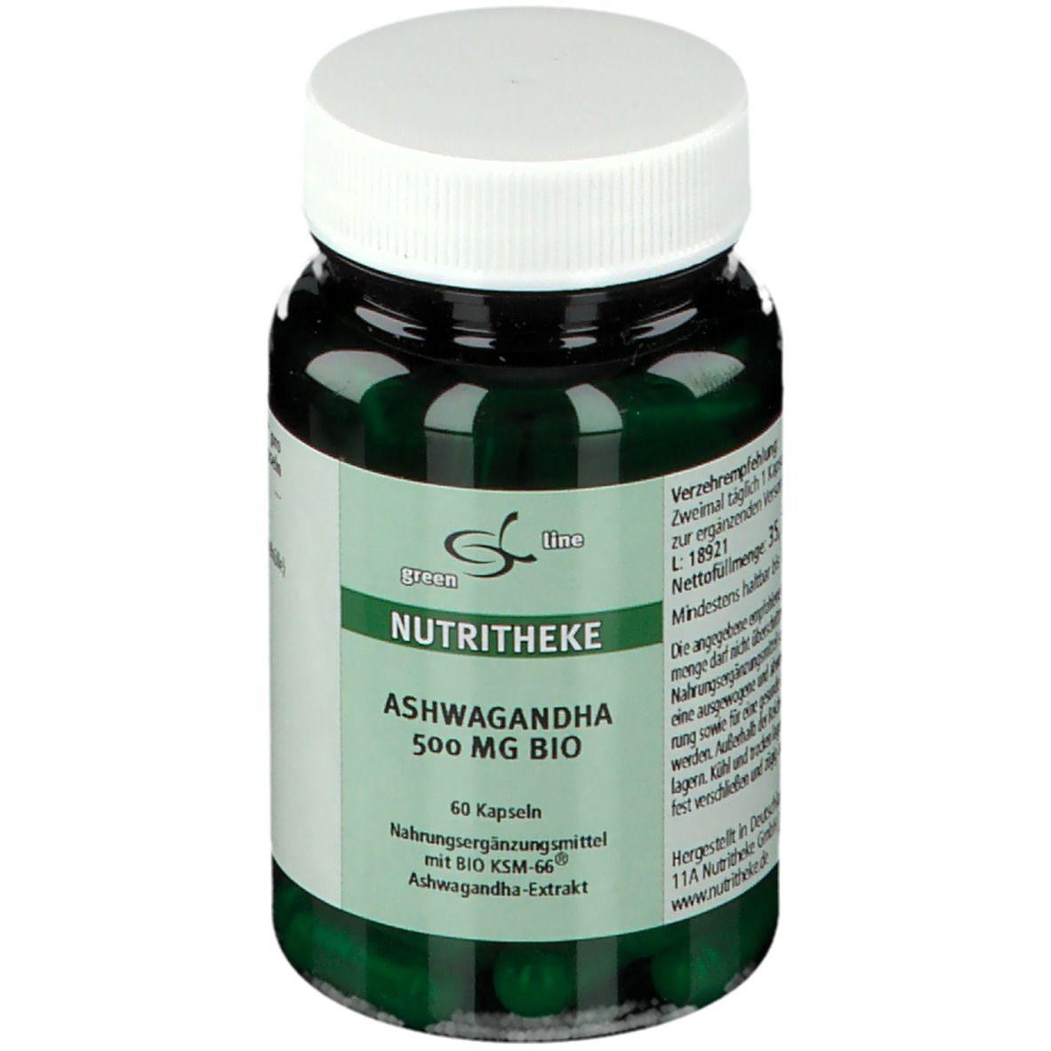 Image of green line ASHWAGANDHA 500 mg BIO