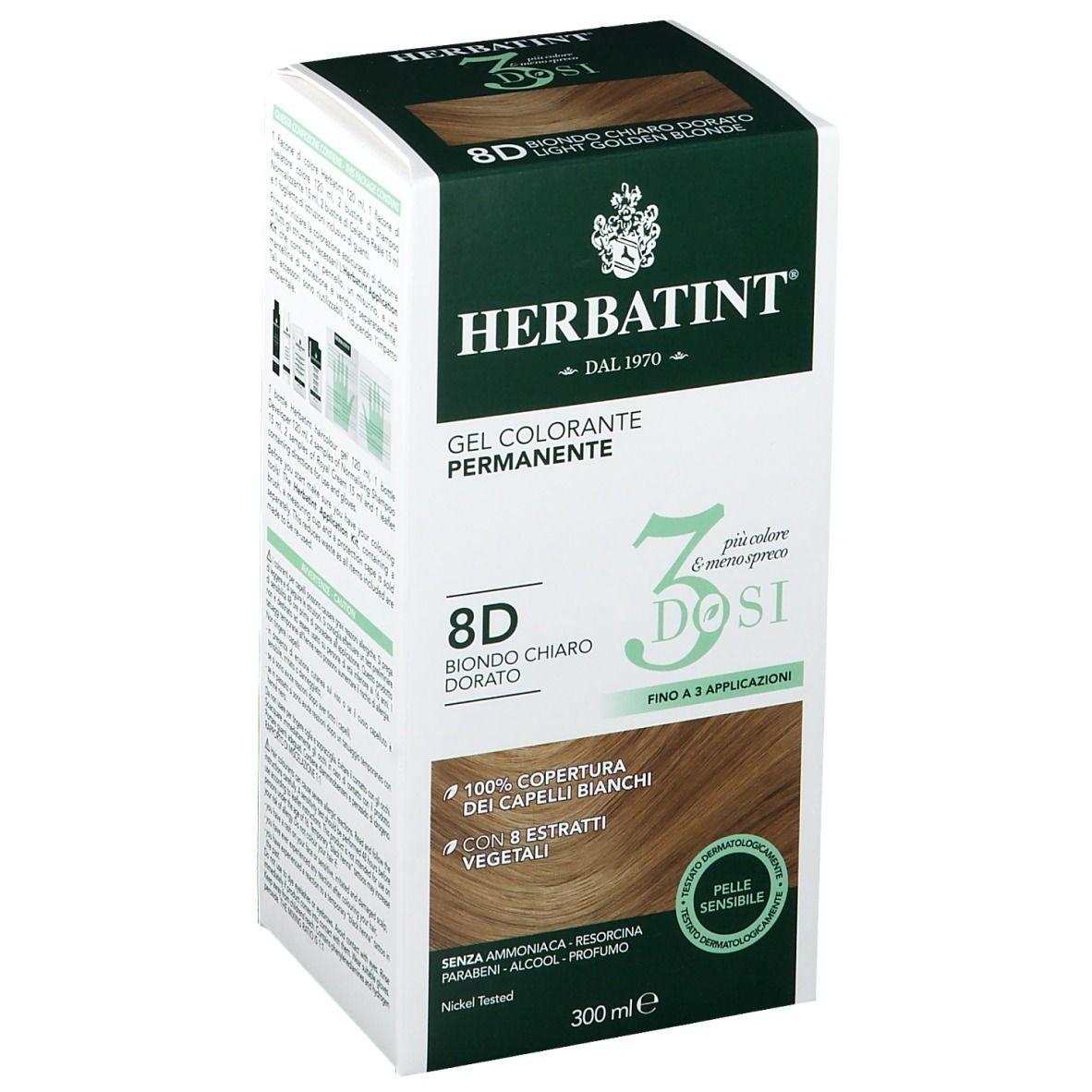 Image of HERBATINT® 3 Dosi 8D Helles Goldblond