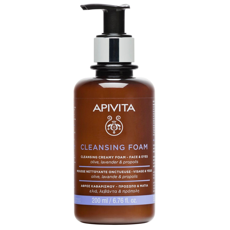 Image of APIVITA Creamy Cleansing Foam - Gesicht und Augen